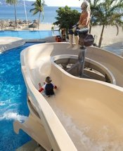 Slide Krystal Beach Acapulco Hotel Acapulco